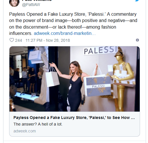Payless becomes Palessi to prove point in new advertising campaign