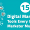 Infographic: 15 essential resources for digital marketers