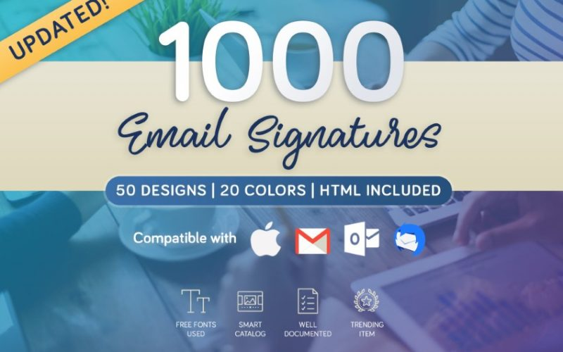 20+ Best Free & Premium Email Footer Signature Template Designs to Download for 2020